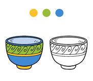 Coloring book for children. A cup with geometric pattern Royalty Free Stock Photos