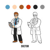 Coloring book, Doctor Royalty Free Stock Photography