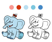 Coloring book for children: elephant. Coloring book for children, education game: elephant Royalty Free Stock Photos
