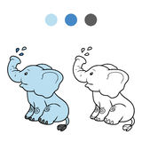 Coloring book for children: elephant Stock Photos