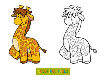 Coloring book for children (giraffe) Royalty Free Stock Image