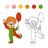 Coloring book for children: Halloween characters (clown) Stock Photography