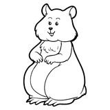 Coloring book for children: hamster (animal) Royalty Free Stock Images