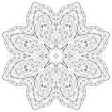 Coloring book for children. Coloring book kaleidoscopre for relax time Royalty Free Stock Photography