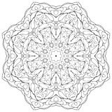 Coloring book for children. Coloring book kaleidoscopre for relax time Royalty Free Stock Photo