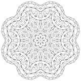 Coloring book for children. Coloring book kaleidoscopre for relax time Royalty Free Stock Images
