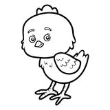 Coloring book for children, little chick Royalty Free Stock Photo