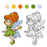 Coloring book for children: little fairy Stock Photos