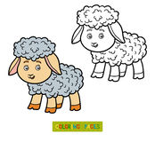 Coloring book for children, little sheep Stock Photo