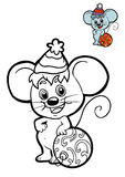 Coloring book for children, Mouse Royalty Free Stock Photos