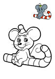 Coloring book for children, Mouse Royalty Free Stock Image