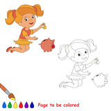 Coloring book for children Stock Photos