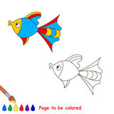 Coloring book for children. Page to be color. Colorful fish. Coloring book for children. Page to be color. Sealife Royalty Free Stock Image