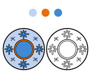 Coloring book for children. A plate with winter pattern Stock Photos
