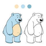 Coloring book for children (polar bear) Stock Image