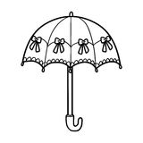Coloring book for children, umbrella. Coloring book for children, cute umbrella Royalty Free Stock Photography