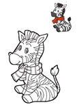 Coloring book for children, Zebra Royalty Free Stock Photos