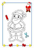 Coloring book of Christmas 1 Royalty Free Stock Image