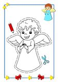 Coloring book of Christmas 2 stock images