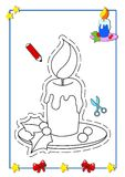 Coloring book of Christmas 3 Royalty Free Stock Photography