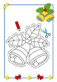 Coloring book of Christmas 5 royalty free stock photo