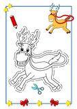 Coloring book of Christmas 6 Royalty Free Stock Photography