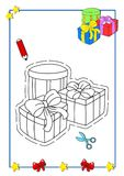 Coloring book of Christmas 8 Stock Images