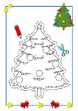 Coloring book of Christmas 9 Stock Image