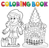 Coloring book Christmas thematics 7. Eps10 vector illustration Stock Image