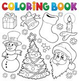 Coloring book Christmas thematics 5 Royalty Free Stock Photo