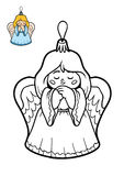 Coloring book, Christmas tree toy, Angel Royalty Free Stock Photo
