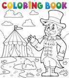 Coloring book circus ringmaster theme 2 Stock Image