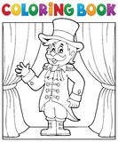 Coloring book circus ringmaster theme 1 Royalty Free Stock Photography