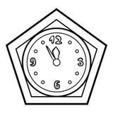 Coloring book, Clock. Coloring book for children, Clock vector illustration