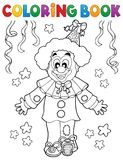 Coloring book clown thematics 2 Royalty Free Stock Photo