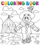 Coloring book clown thematics 3 Stock Image