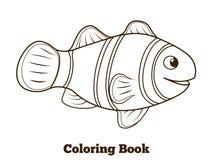 Coloring book clownfish fish cartoon vector Royalty Free Stock Image