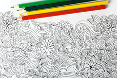 Coloring book Stock Image