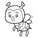 Coloring book, coloring page (bee) Royalty Free Stock Photography