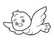 Coloring book, coloring page (bird) Royalty Free Stock Images