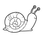 Free Coloring Book, Coloring Page (snail) Royalty Free Stock Photos - 70281488
