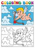 Coloring book with Cupid 2 Royalty Free Stock Image