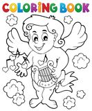 Coloring book with Cupid 7 Royalty Free Stock Photo