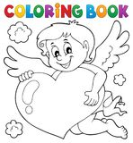 Coloring book Cupid topic 4. Eps10 vector illustration stock illustration