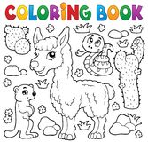 Coloring book with cute animals 4 Royalty Free Stock Images