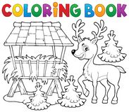 Coloring book deer theme 2 Royalty Free Stock Photos