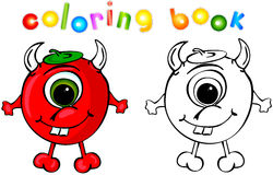 Coloring book devil Stock Photo