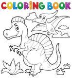 Coloring book dinosaur theme 2 Stock Photos