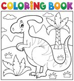 Coloring book dinosaur theme 4 Royalty Free Stock Photo