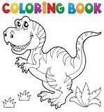 Coloring book dinosaur theme 5 Stock Image